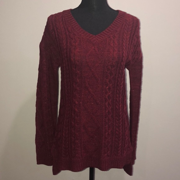 70842729c2 Faded Glory Sweaters - Faded Glory Women s Cable Knit Tunic Sweater